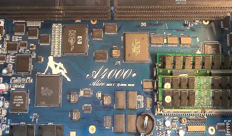 A4000+ Alice: Another new Amiga 4000 motherboard