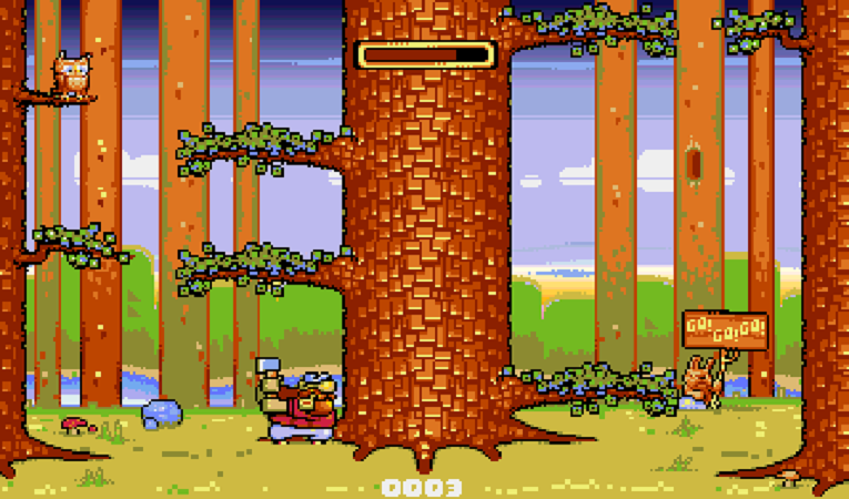 Lumberjack Revision Released: Chop down as many trees as you can