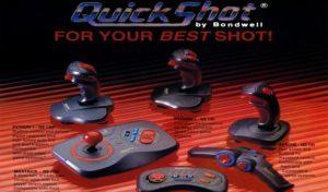 The famous Quickshot joysticks: 42 million units were sold until 1999